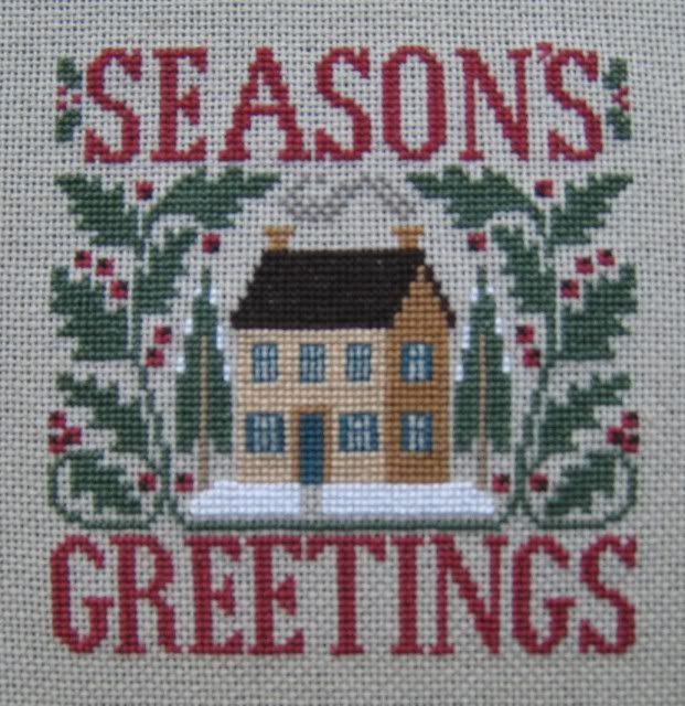 Prairie Schooler's Season's Greetings Finished Ornament photo by munchkin2373