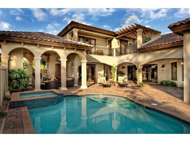 Beautiful mediterranean style home dream homes - Mediterrane architektur ...