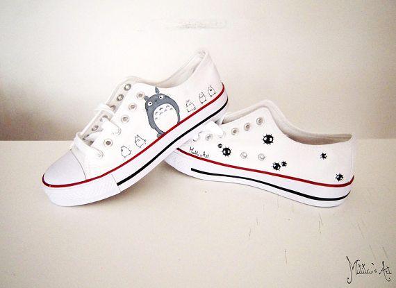 Studio Ghibli hand painted shoes series Totoro shoes