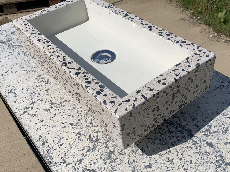 Terrazzo concrete sink | Concrete design, Concrete sink ...