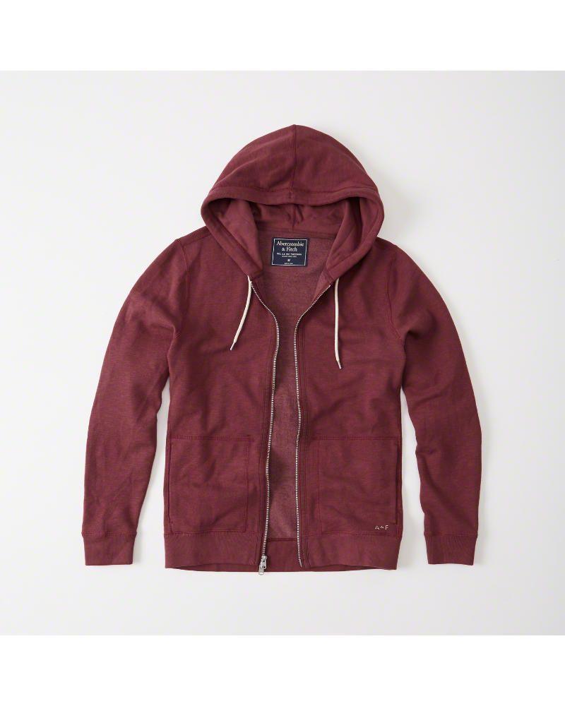 8f11d956af0 A F Men s Fleece Full-Zip Hoodie in Burgundy - Size XL