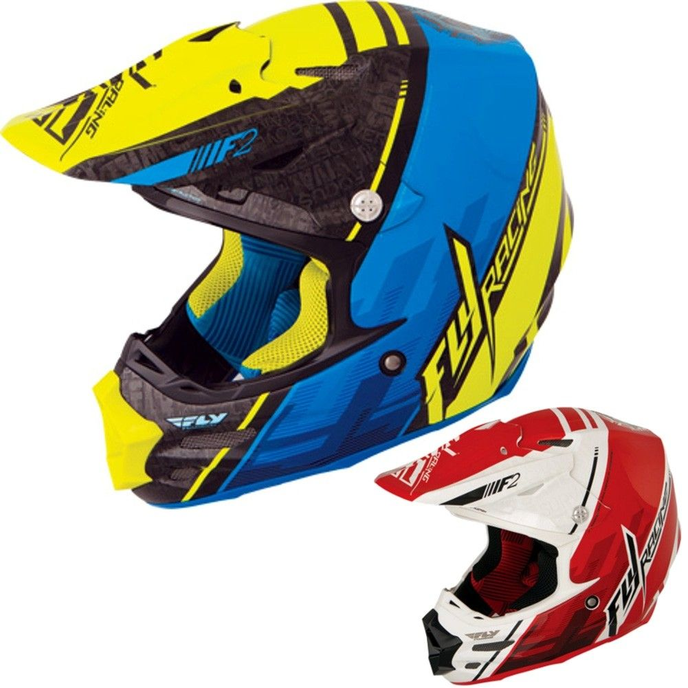 Fly Racing F2 Carbon MIPS Short Helmet Motocross Dirt Bike Offroad Snowmobile
