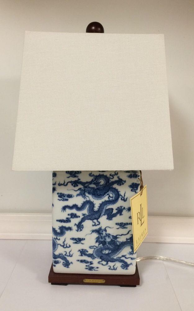 Oriental Dragon Table Lamp Ralphlauren, Ralph Lauren Blue And White Dragon Lamp