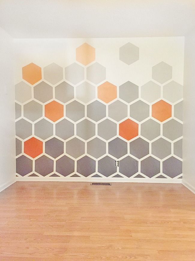 Deko ideen hexagon wabenmuster modern  DIY Ombre Hexagon Wall | Pinterest | Moderne jugendzimmer ...