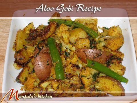 aloo gobi potato cauliflower manjulas kitchen indian vegetarian recipes - Manjulas Kitchen 2