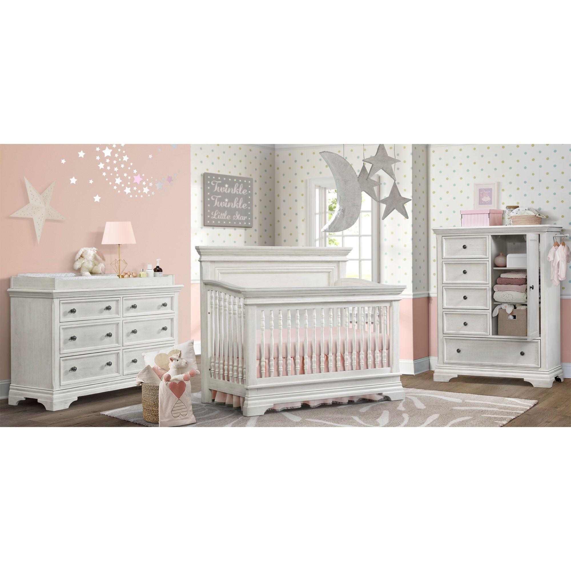 Traditional White 4 Piece Nursery Furniture Set Olivia In 2020 With Images Nursery Furniture Sets Bedroom