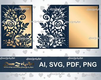 5x7 roses wedding invitation card laser cut template roses lace 5x7 roses wedding invitation card laser cut template roses lace stencil ai stopboris Gallery