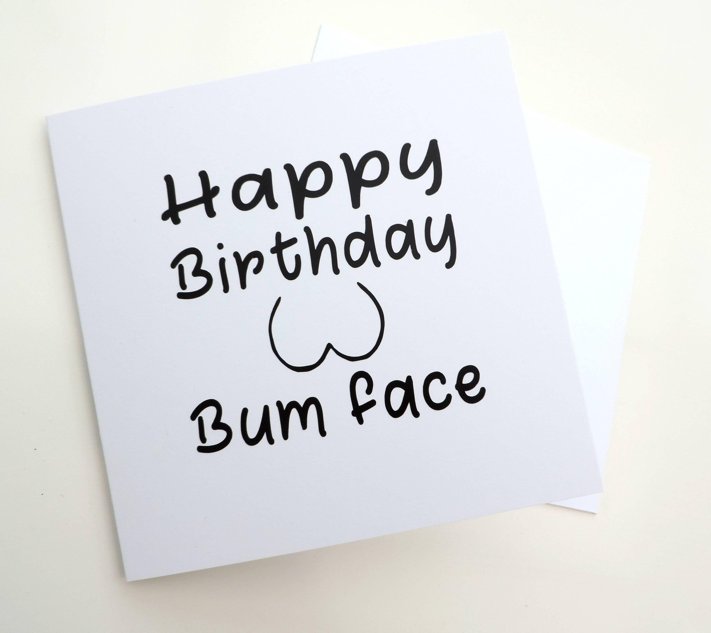 Etsy Shop Birthday Card Adult Blank