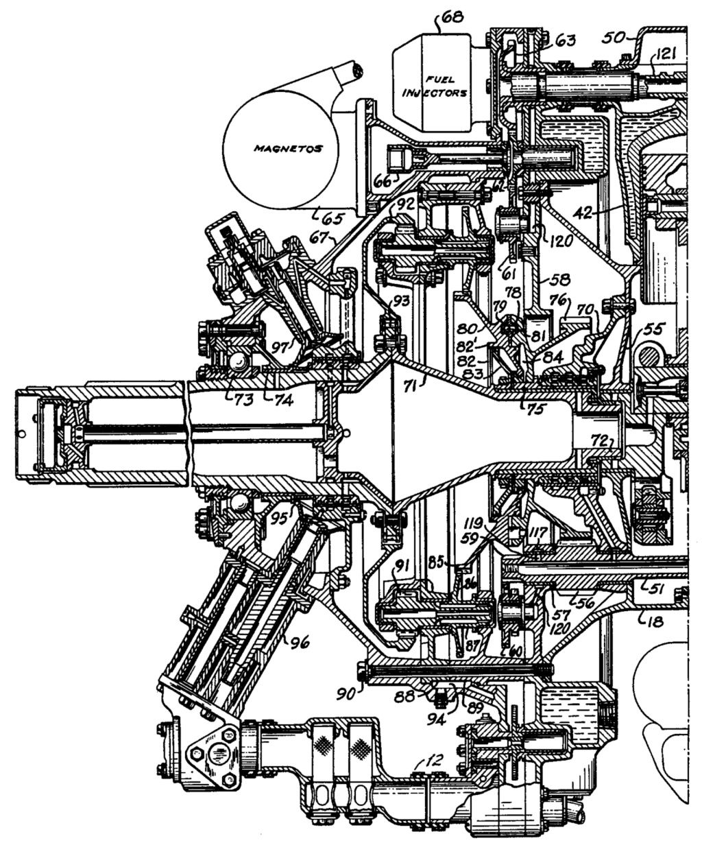 engine technical drawing