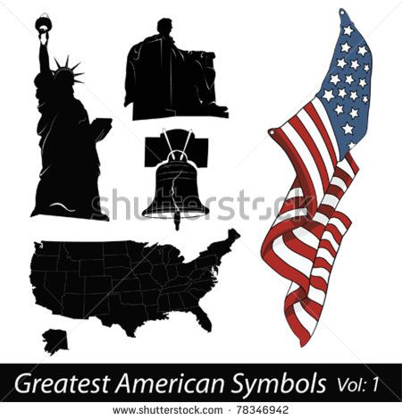 Greatest American Symbols Stock Vector Stars And Stripes