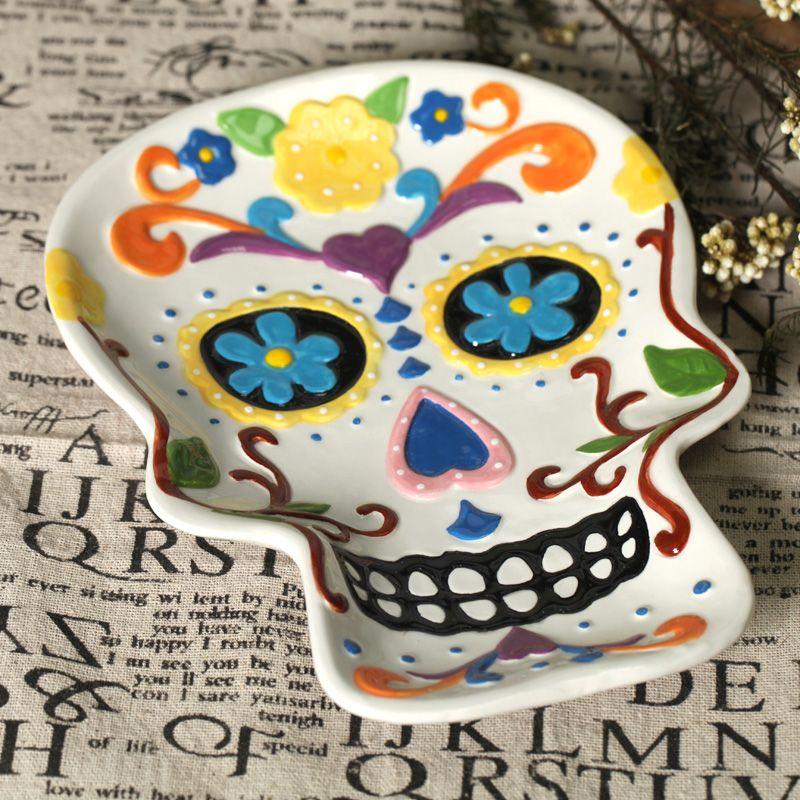 Ceramic Skull Painting Ideas Beginner