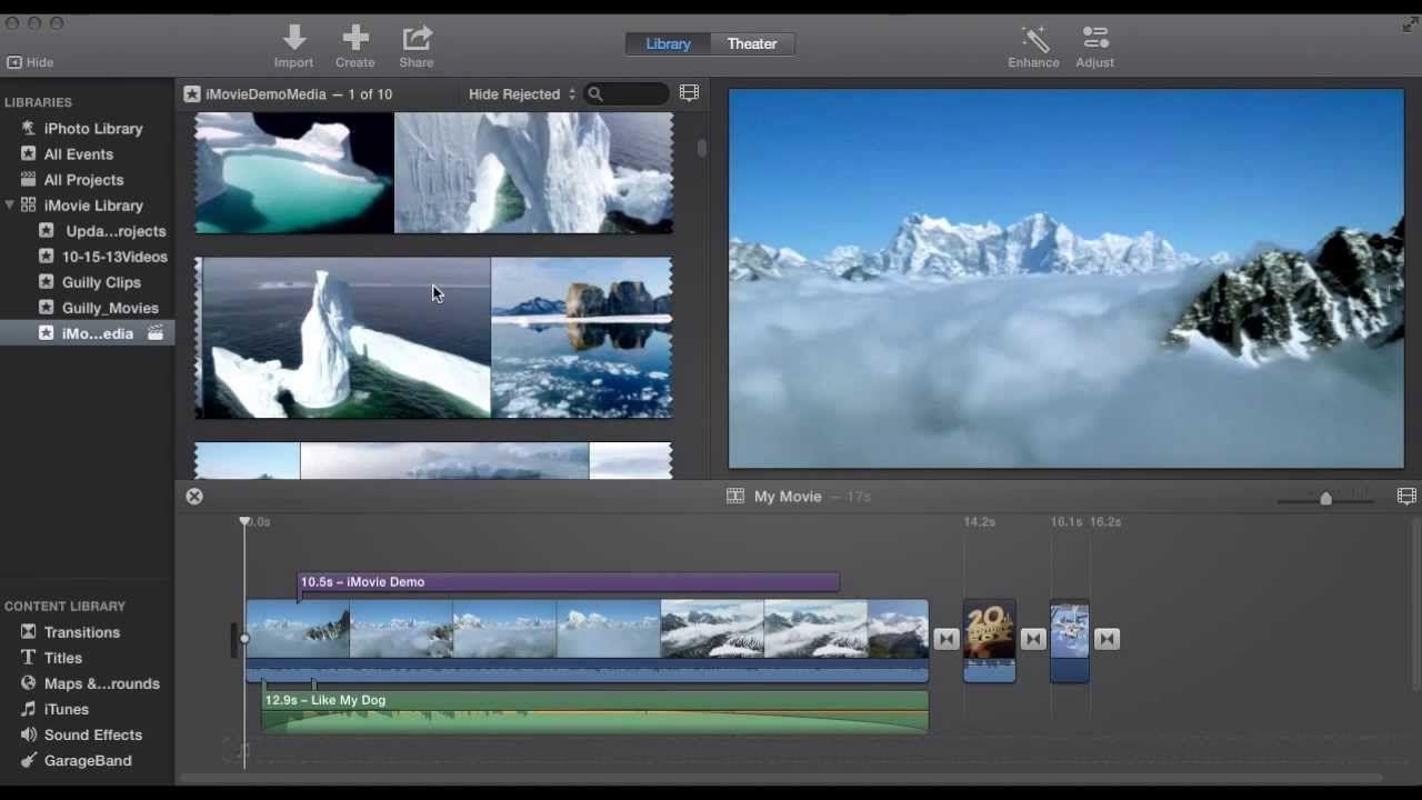 imovie 10.0 tutorial (with complete demo) | mac tutorials | pinterest