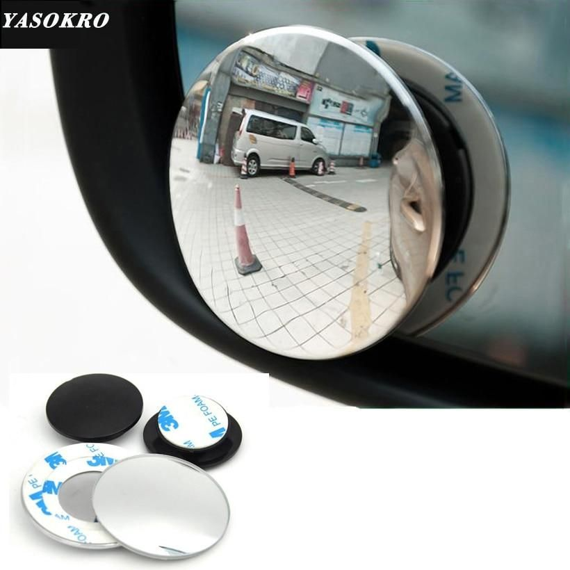 "Blind Spot Mirrors Round Self Adhesive 3/"" Wide Angle Convex Safety Mirror"