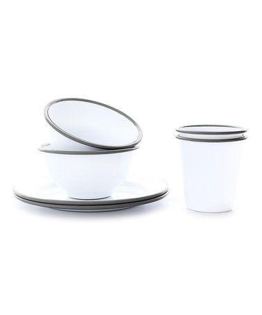 Gray Rim Six-Piece Children\u0027s Dinnerware Set #zulilyfinds  sc 1 st  Pinterest & Look at this #zulilyfind! Gray Rim Six-Piece Children\u0027s Dinnerware ...