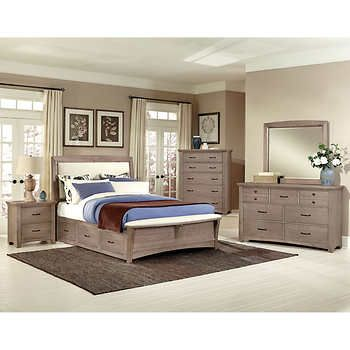 Chambers 6 Piece King Bedroom Set With Built In Bench