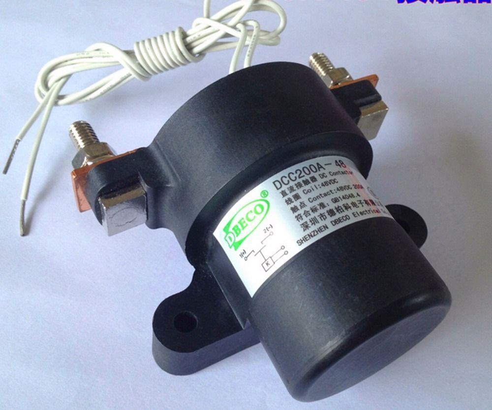 DCC200A-24V Automobile relay Dc contactor for EV / forklift