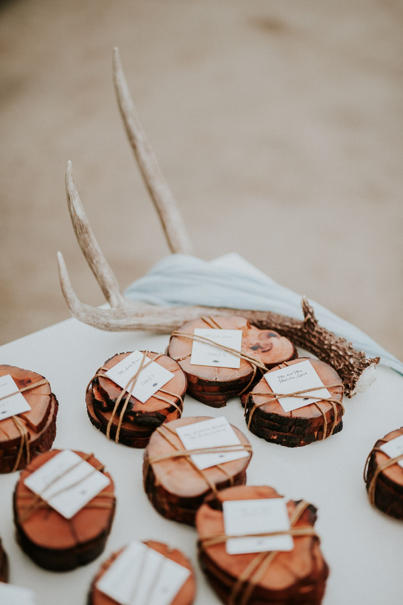 Wood Slice Coaster Favors Are A Pretty Natural Accent To Your