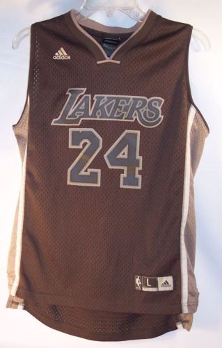 d0ee48f46 Rare-Brown-L-A-Lakers-Kobe-Bryant-24-Adidas-NBA-Jersey-Youth-Large-14-16