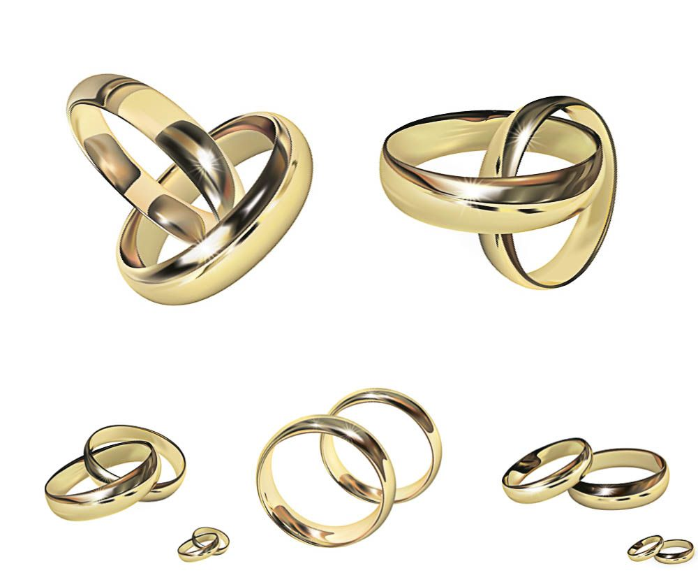 Golden Wicker Wedding Rings Vector Free For Download And Ready For Print  Over 10,000+