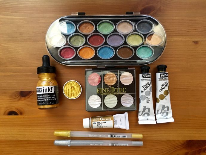 Doodlewash Review Gold Luminous Paints And Inks Luminous