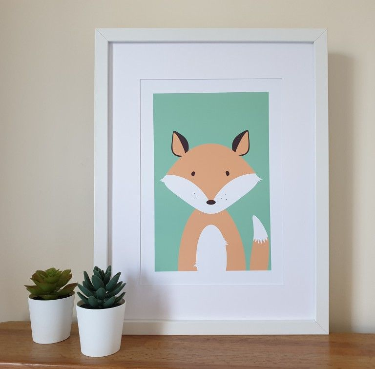 Cute woodland animal prints. 3 in a set or purchase