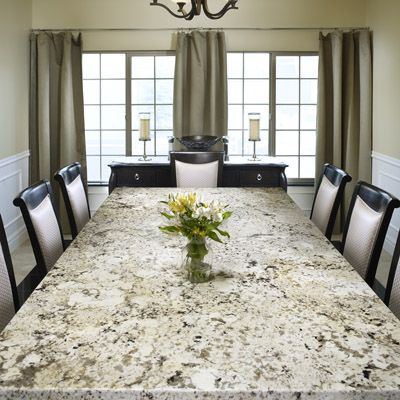 Now That S A Handsome Slab For More Slabs Http Universalstone Inc Com Granite Dining Table Granite Kitchen Table Beautiful Dining Rooms