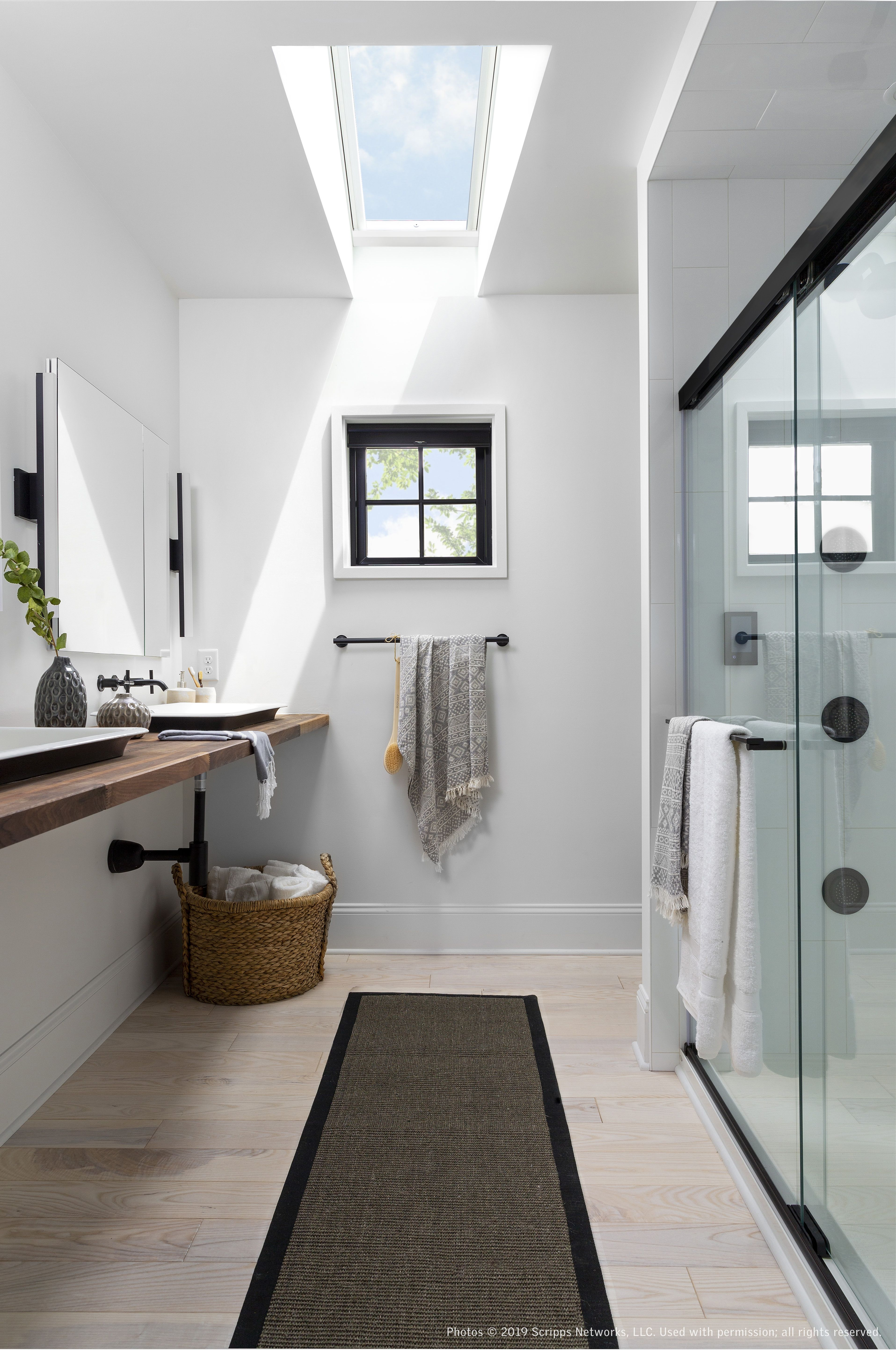 A Velux Skylight Illuminates The Master Bathroom In The Hgtv Urban