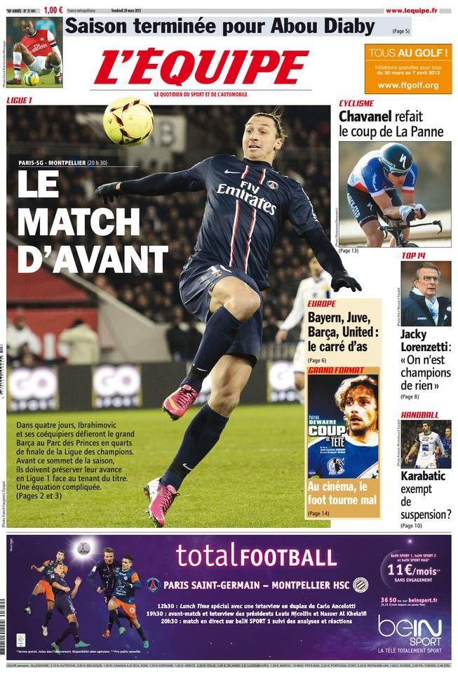 L'Équipe - Vendredi 29 Mars 2013 - N° 21441