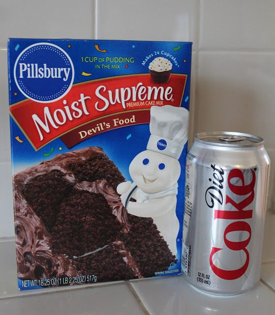 Oh Wow Never Would I Have Thought That A Diet Soda Cake Mix A