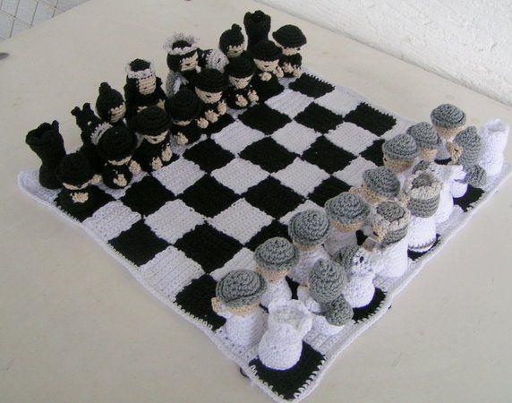 Häkelanleitung Schachspiel Nr. Ii \