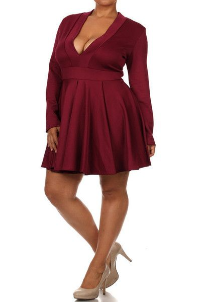 Plus Size Dance The Night Away Skater Dress  557f269091