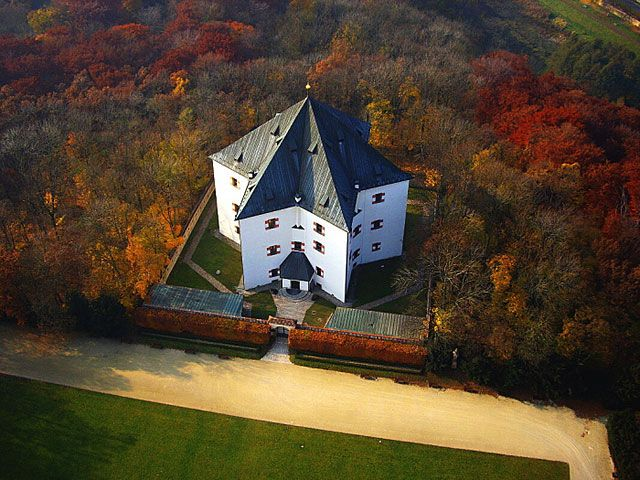 The letohr dek hv zda is a renaissance summer palace in the shape of a star prague district 6 - The star shaped villa ...