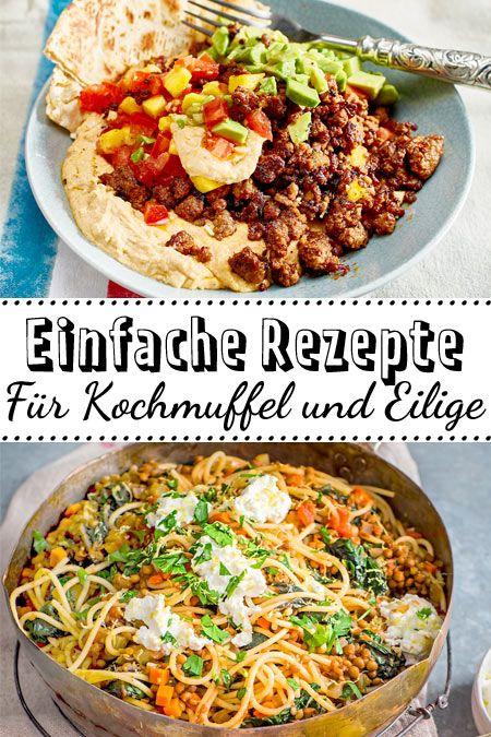 Unsere einfachen #Rezepte kommen für Anfänger in der Küche oder Eilige genau richtig! Hier sind die besten Ideen. #schnell #einfach #quickandeasydinnerrecipes