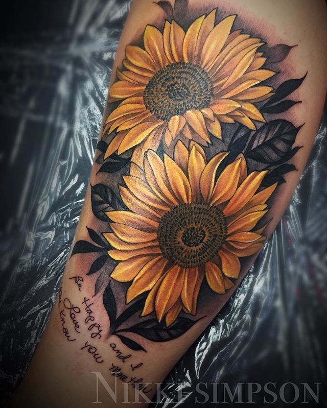Photo of Made these sunflowers very personal to her with some handwriting last night …..