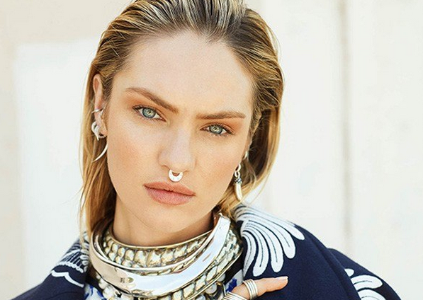 Candice Swanepoel bull nose ring