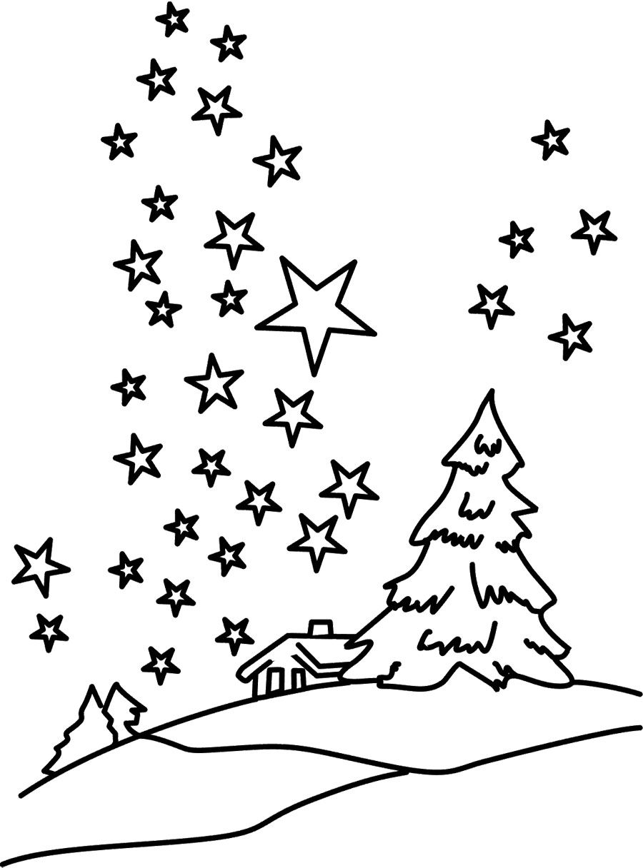 Winter On Christmas Coloring Page | Winter | Pinterest | Craft