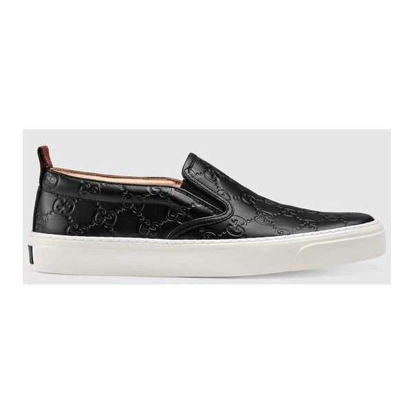 32322d555d024 Gucci Gucci Signature Slip-On ( 570) ❤ liked on Polyvore featuring shoes