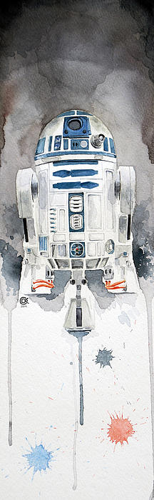 R2 david kraig watercolor star wars series