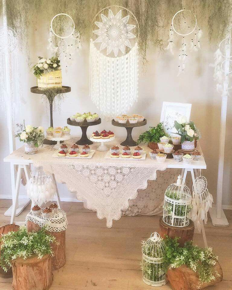 Wedding Dessert Table Decorations: Bohemian Dessert Table