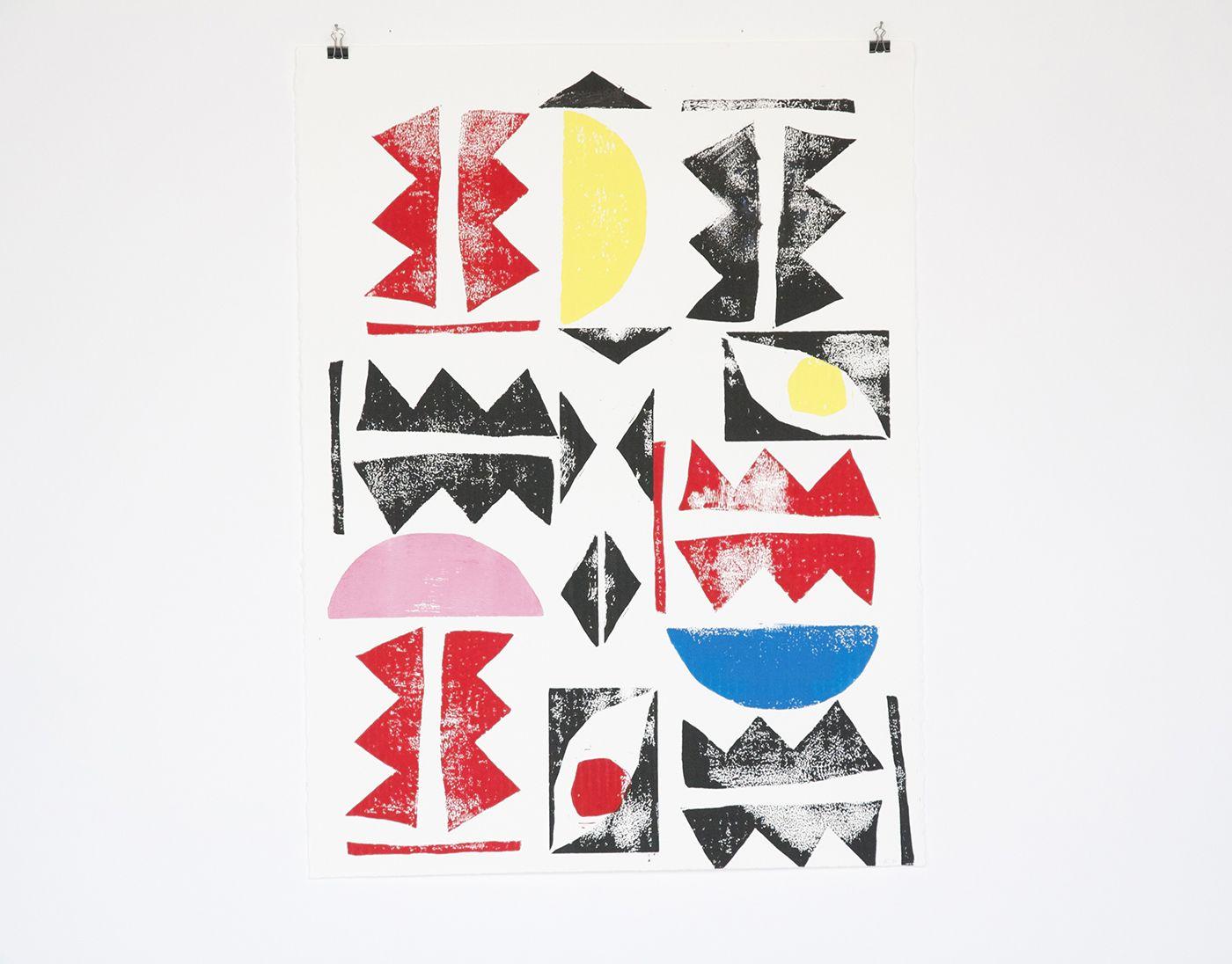 Naomi Clark Block Print for Fort Makers