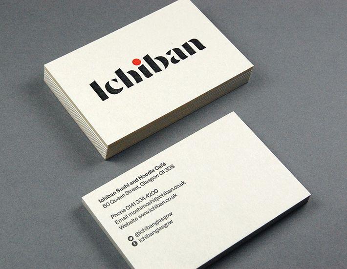 Ichiban Business Card Inspiration Business Card Design Business Card Design Inspiration