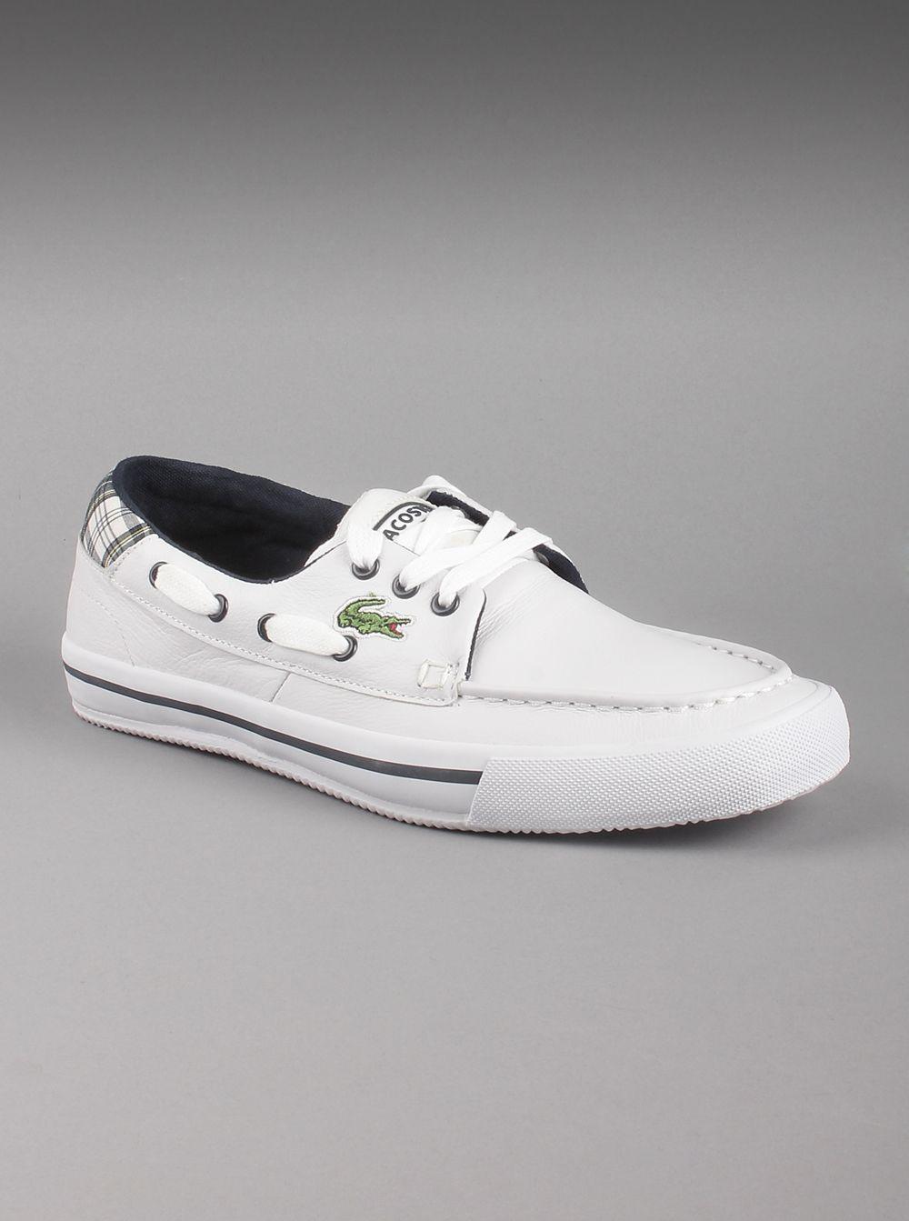 Canvas boat shoes, Lacoste men