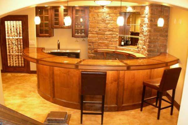 Basement Bar Ideas | Basement Bar Design Ideas: Basement Bar Design Ideas  Half Round Table
