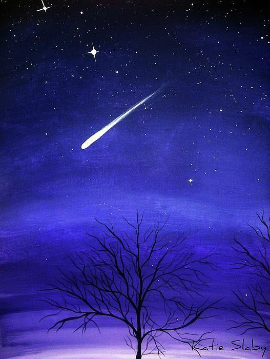 When Stars Fall Peinture Ciel Peinture Sur Toile Peinture Debutant