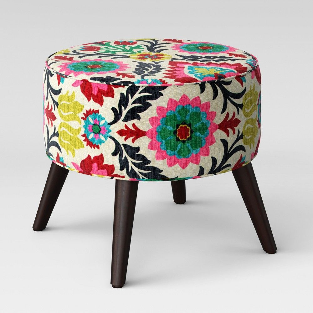 Fine Riverplace Round Cone Leg Ottomansanta Maria Flower Gmtry Best Dining Table And Chair Ideas Images Gmtryco