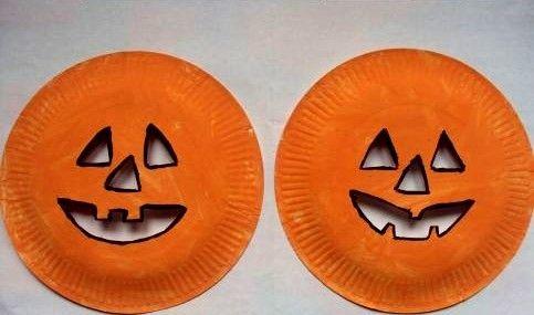 masque halloween citrouille avec assiette en carton actividades ingles cole pinterest. Black Bedroom Furniture Sets. Home Design Ideas