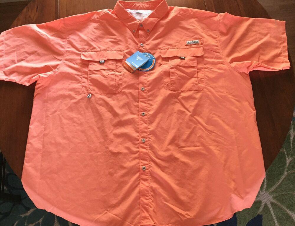 f6b7ef9f367 Columbia Men's PFG Shirt 4 XT / 4 TL NEW Vented Omni-Shade UPF 30 ...