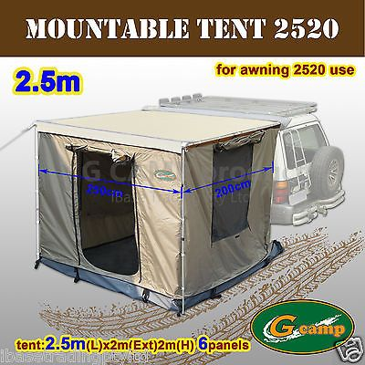 G Camp Mountable 2 5m Awning Roof Top Tent Camper Trailer 4wd 4x4 Car Rack Roof Top Tent Awning Roof Tent Campers