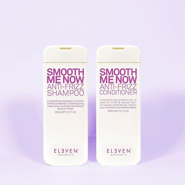 The perfect duo to combat windy Spring weather #ELEVENAustralia  #SmoothMeNow #AntiFrizz   Anti frizz products, Anti frizz shampoo,  Conditioner