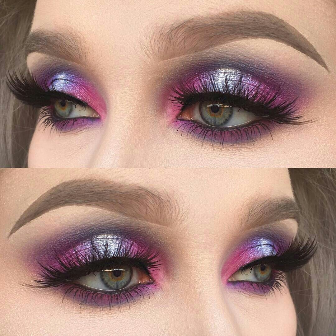 I love this look Halo eye makeup, Galaxy makeup, Smokey